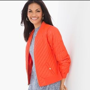Chico's Carrie Quilt Bomber Jacket